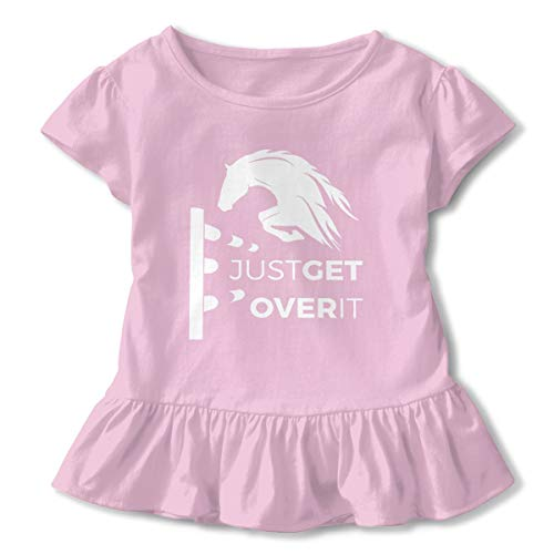 Lookjufjiii80 Toddler Girls' Jumping Horse Short Sleeve Dress Ruffle T-Shirt Blouse Casual Clothes Pink -
