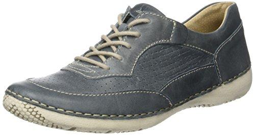 Josef Seibel Antje 09, Zapatos de Cordones Derby para Mujer Azul (Jeans)