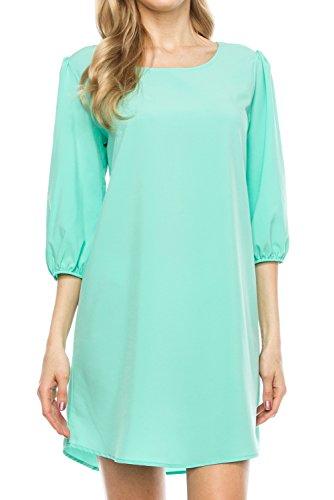 3 4 sleeve boatneck dress - 5