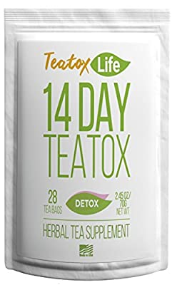 Skinny mint teatox 28/14 day tea for flat tummy detox cleanse weight loss - 28 herbal tea bags | Made in USA| USDA Certified