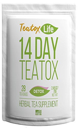 Skinny Mint Teatox Detox Tea, Organic 14 Day / 28 Day Body Cleansing Treatment| Healthy Natural Weight Loss Slimming Tea For Women & Men | Metabolism Boosting Flat Stomach Tea (Best Juice Cleanse For Losing Weight)