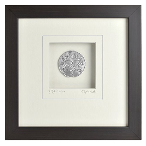 Union Square Print (Cynthia Webb Designs Perfect Union Pewter Wall Art, Espresso)