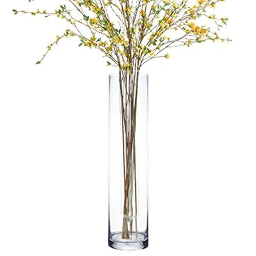 "CYS Handblown Tall Glass Cylinder Vase , 32""/6"""