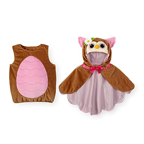 [Koala Kids Owl Baby Girls 2 Piece Plush Cape Halloween Costume (9-12 Months)] (Infant Owl Halloween Costumes)