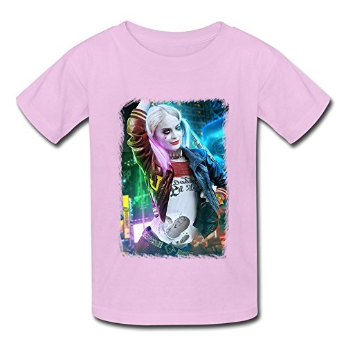 SANYOU Kid's Vintage Suicide Squad Margot Robbbie Harley Quinn T-shirts Size S Pink (Harley Quinn Children)