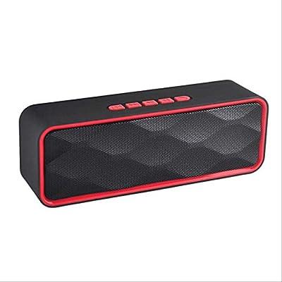 PMWLKJ Altavoz Bluetooth portátil, con micrófono, Compatible con ...