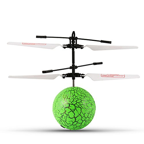 Acefun RC Flying Ball, RC Infrared Induction Helicopter Ball Built-in Shinning LED Lights, RC Toy with LED Flashing Lighting for Kids, Teenager