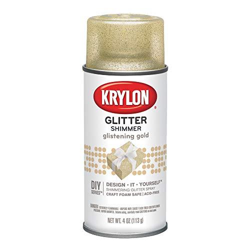 Gold Glitter Spray - Krylon I00401 Glitter Aerosol Spray, Glistening Gold