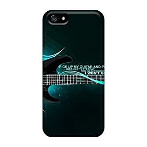 Iphone 5/5s Cases Covers - Slim Fit Protector Shock Absorbent Cases (guitar)