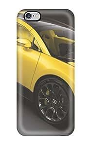 For Iphone 6 Plus Premium Tpu Case Cover Yellow Bugatti On Black Protective Case