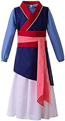 Baige Vestido Azul Oscuro de Mulan, Traje de Cosplay de Kimono ...