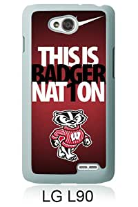 Beautiful Classic Ncaa Big Ten Conference Football Wisconsin Badgers White Case For LG L90