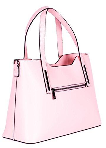 Moretti Milano , Damen Schultertasche Pink schwarz