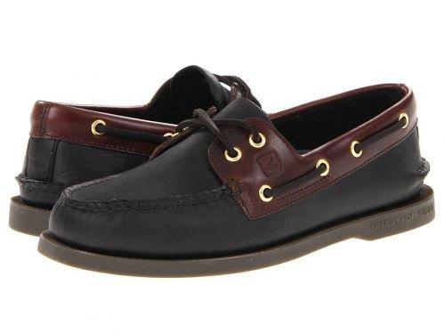 Sperry(スペリー) メンズ 男性用 シューズ 靴 ボートシューズ Authentic Original Black/Amaretto [並行輸入品] B07BLQCV48 10.5 W (EE)