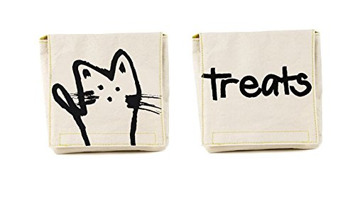 Fluf Reusable Snack Bags | Sandwich Bags for Kids | Certified Organic Cotton, & Machine Washable | Set of 2 | Meow Cat Pack