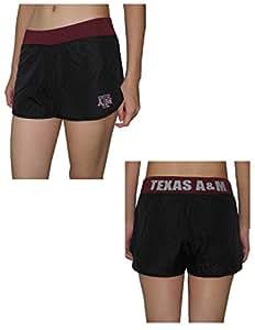 Womens TEXAS A&M AGGIES Dri-Fit Mesh Running / Athletic Shorts L Black
