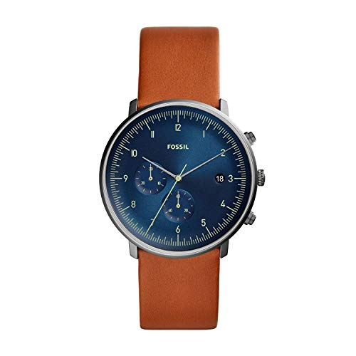 Fossil Men's Chase Timer Luggage Leather Watch FS5486 (Fossil Outlet)
