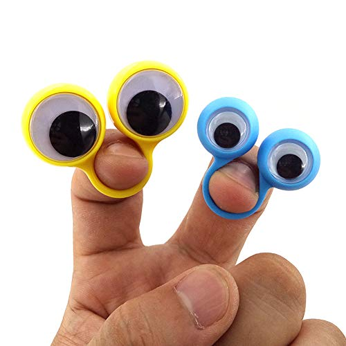 25 PCS Eye Finger Puppets Large Googly Party Favor Children's Toys Assorted Colors for Kids Boys And Girls Popular Best Gift Fun Show Prize Fillers Plastic Rings with Eyes (Best Jewelry Monster Pliers)