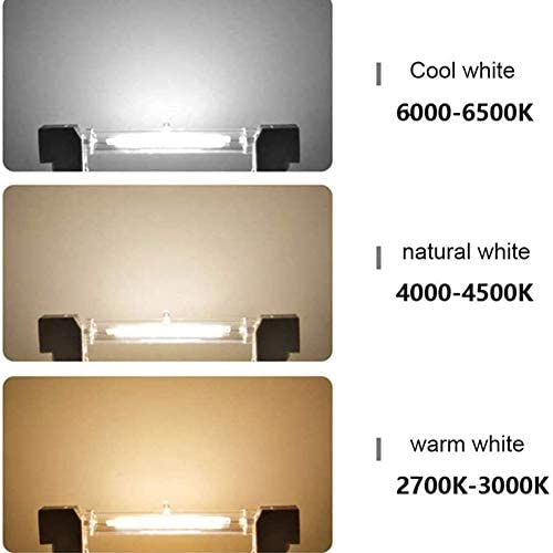 JZH-Light R7S Bombilla LED 78Mm 10W, 1000Lm, Tipo J,Lámpara De Reflector Lineal De Ahorro De Energía Equivalente A Lámpara Halógena De 100W, (4 Pack),Warm White 3000k,110V
