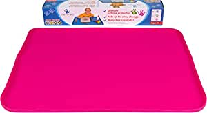 """Messmatz by PlaSmart, Food Grade Silicone, 24"""" x 18"""" Pink Craft Mat, The Creativity Mat with an Edge, Classroom Size, Ages 0 and up, Non-toxic, Easy to Clean"""
