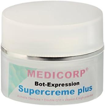 medicorp bot de Expression anti-age de Super Crema Plus, Nueva Fórmula sin parabeno, parrafine y Parfum con Q10y bot de efecto, 50ml