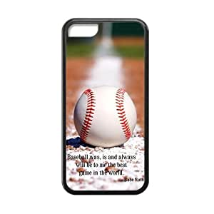 Canting_Good Baseball Custom Case Shell Skins for iPhone 5C TPU (Laser Technology)
