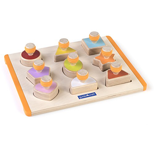 Guidecraft Shape Sorter - Educational and Learning Toys For Kids , Puzzle Board Guidecraft Ring