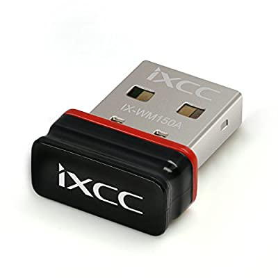 iXCC 150Mbps 11n 2.4GHz USB Wifi Dongle Nano Wireless N Adapter for Raspberry Pi / Pi2, Windows XP / Vista, Win 10 8.1 8 7, Mac OS, Linux and More by iXCC