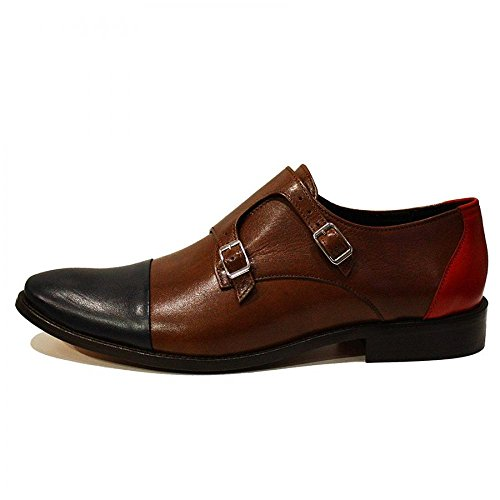 Modello Tiziano - Handmade Colorful italiennes Chaussures en cuir Oxfords Casual Souliers de Formal Prime Unique Vintage Gift Lace Up Robe Hommes