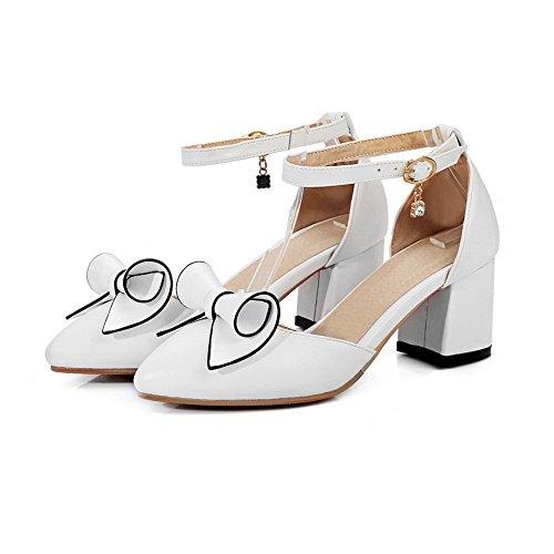 Blanc ASL05256 BalaMasa Compensées Sandales Femme x4RAwxIgqO