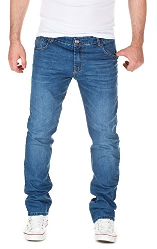 WOTEGA Herren Jeans Travis Slim-Fit, blue indigo (3928), W33/L32