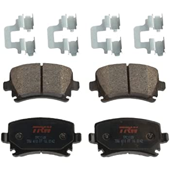 REAR GENUINE TRW BRAKE PADS SET OEM BRAND NEW FOR AUDI A4 A5 A6 A7 Q5 2007