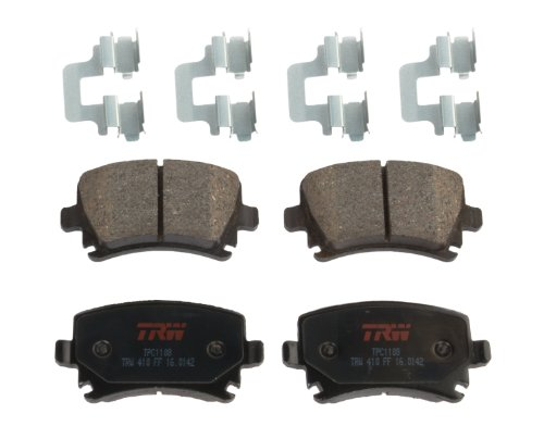 TRW TPC1108 Premium Rear Disc Brake Pad Set (Pad Brake Set Quattro)