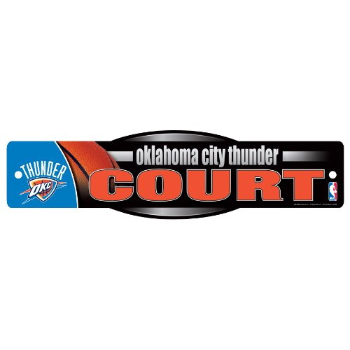WinCraft NBA Oklahoma City Thunder Sign, 4.5 x 17-Inch by WinCraft