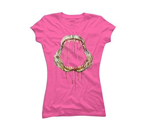 Shark Bone Women's 2X-Large Hot Pink Graphic T Shirt - Design By Humans