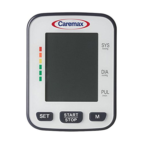 Amazon.com: Clinical Automatic Blood Pressure Monitor FDA Approved by Caremax with Large Screen Display Portable Case Irregular Heartbeat BP and Adjustable ...