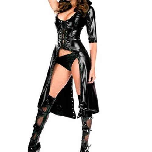long black leather dress - 9
