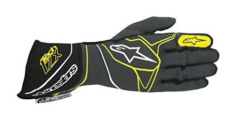 Alpinestars 2017 Tech 1-ZX Glove - Size Large - Anthracite/Black/Yellow Fluorescent - SFI 3.3 LEVEL 5/FIA 8856-2000 (3550317-1045-L)