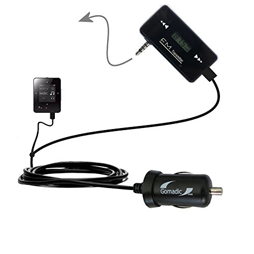 3rd Generation Powerful Audio FM Transmitter with Car Charger suitable for the Creative ZEN Style M100 - Uses Gomadic TipExchange Technology
