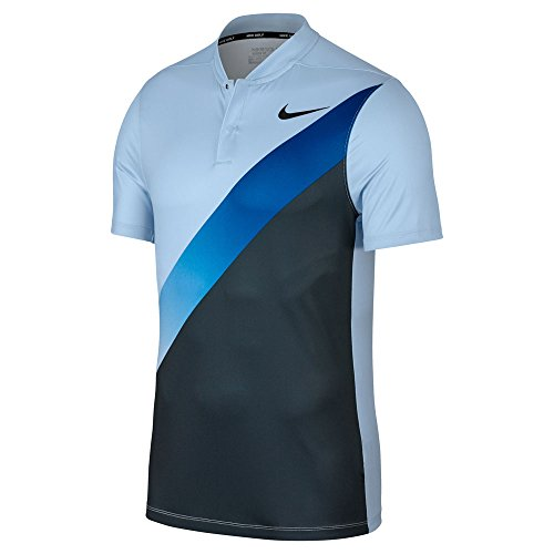 - Nike Dry Fit Slim FA Print Golf Polo 2017 Hydrogen Blue/Armory Navy/Blue Jay/Black X-Large