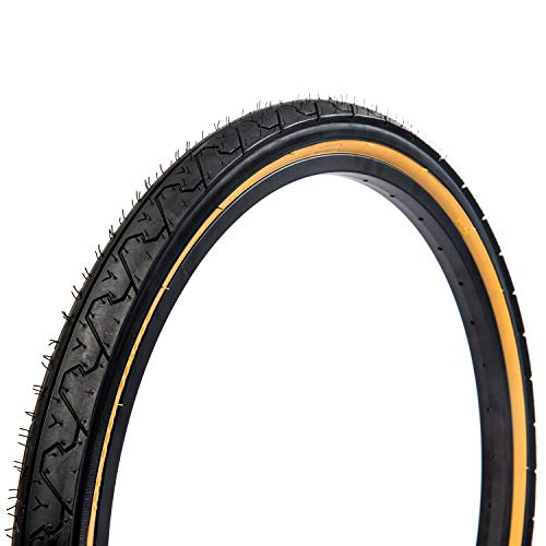 Kenda Tires Kwest Commuter/Urban/Hybrid Bicycle Tire - 700 x 25c, Black/Gumwall