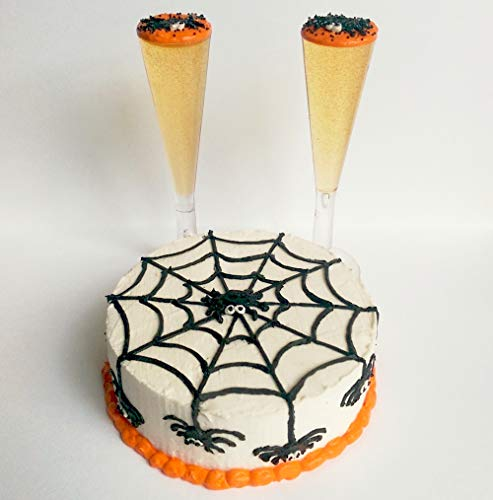 Halloween Spider Web Cake with Set of 2 Orange Drink for 14 inch and 18 Inch dolls American Girl, Journey Girls, Our Generation, Madame Alexander, Wellie Wishers, Hearts for Hearts, -