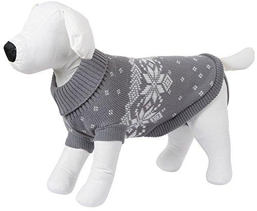 Kerbl 81403 Pullover Lillehammer, 30 cm, grau/weiß