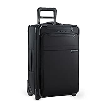 Briggs & Riley Baseline Luggage Baseline Domestic Carry-On Expandable Upright, Black, Medium