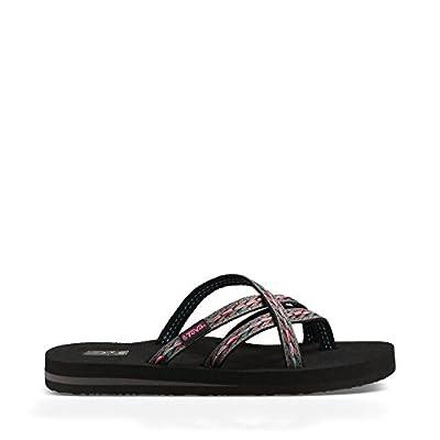 Teva Women's Olowahu Flip-Flop (6 B(M) US/37 EUR, Felicitas Black)