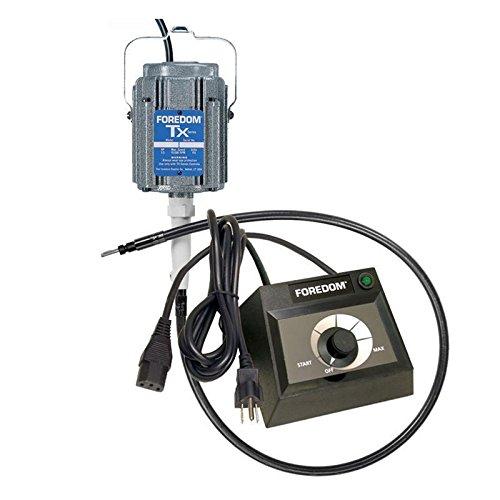 TX Foredom M.TX Flex Shaft TX Motor 1/3 HP Flexshaft Motor & EMX-1 Speed Control by Foredom