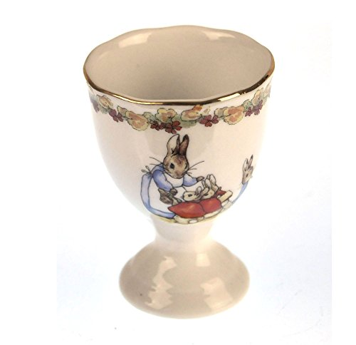 [Beatrix Potter Porcelain Eggcup - Mrs Josephine Rabbit with Flopsy, Mopsy and Cotton-tail] (Peter Cotton Tail)