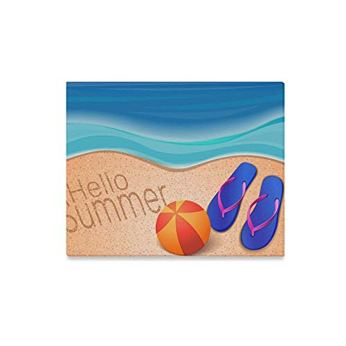 ENEVOTX Wall Art Painting Summer Sea Beach