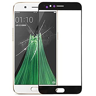 JUNXI Phone case Phone Cover Front Screen Outer Glass Lens for Oppo R11 Plus (Black) (Color : Black)