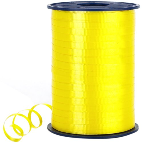 Morex Poly Crimped Curling Ribbon, 3/16-Inch by 500-Yard, Bright Yellow]()